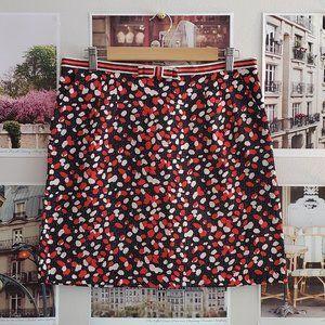Louche Polka Dot Mini Skirt with Striped Bow